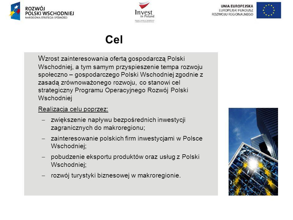 W zrost zainteresowania ofertą gospodarczą Polski Wschodniej, a tym samym przyspieszenie tempa rozwoju społeczno – gospodarczego Polski Wschodniej zgo