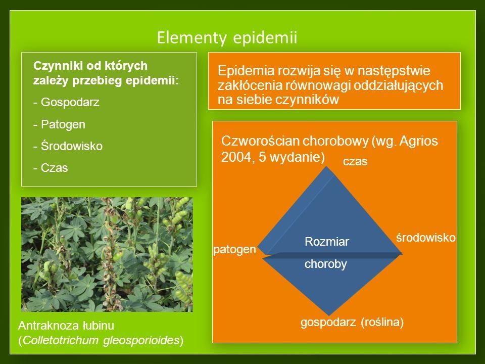 Elementy epidemii Czworościan chorobowy (wg.