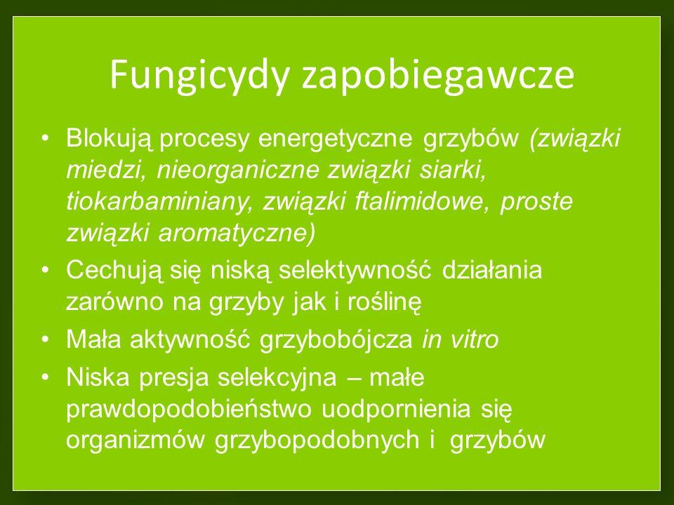 Inne oddziaływania fungicydów Fitotoksyczność – nekrozy na liściach i owocach (f.