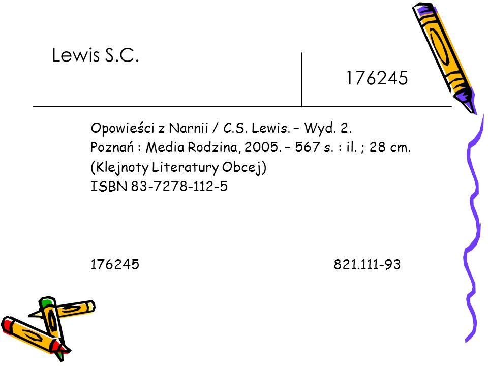 Lewis S.C.176245 Opowieści z Narnii / C.S. Lewis.