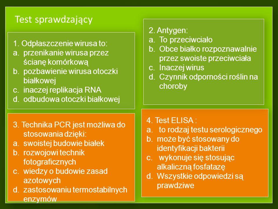 Ochrona przed chorobami wirusowymi Termoterapia – inaktywacja wirusów poprzez przetrzymywanie bulw kłączy, zrazów w podwyższonej temperaturze Chemiote