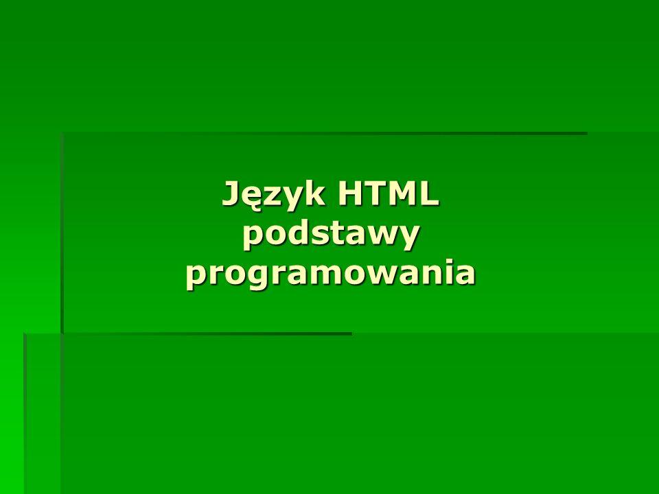 Język HTML podstawy programowania