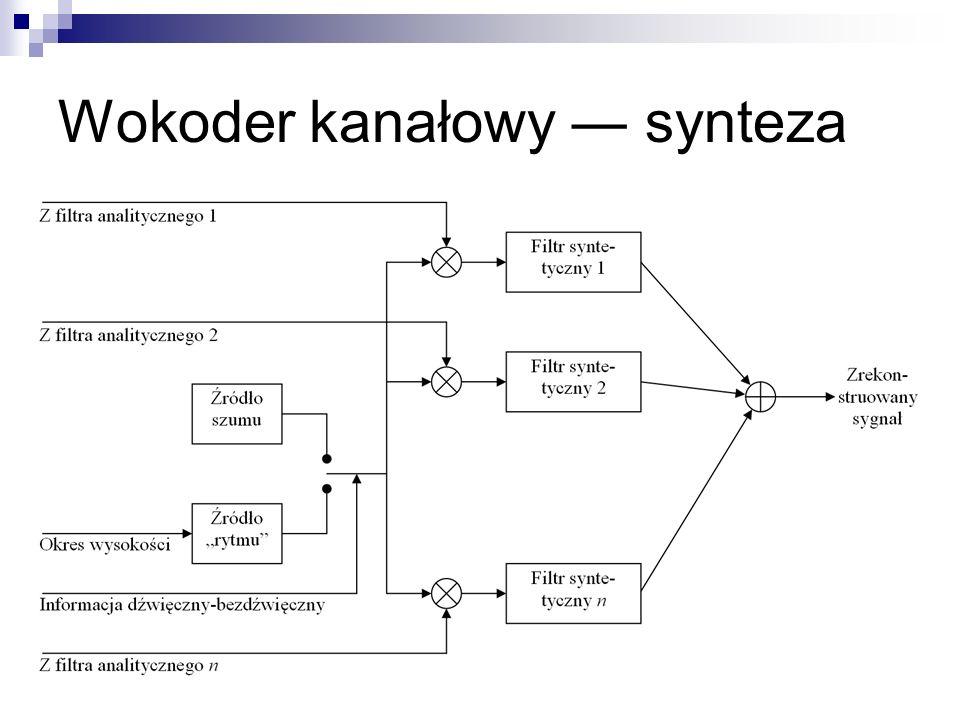 LPC-10 (na podstawie: K.Sayood, Kompresja danych.