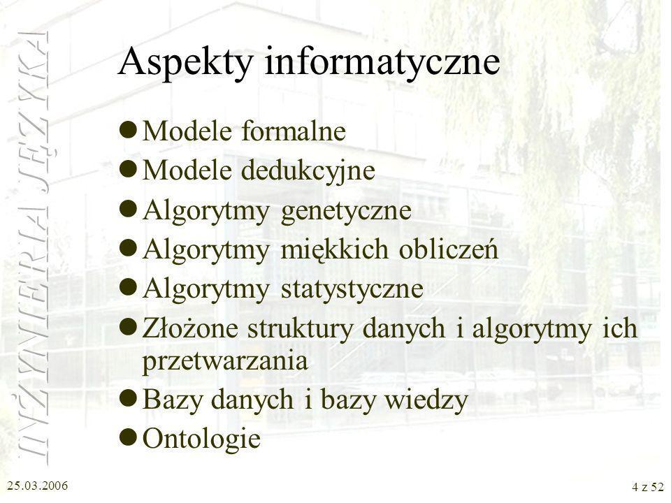 25.03.2006 15 z 52 Gramatyki formalne c.d.