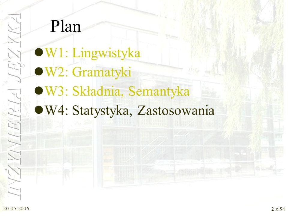 W4: Statystyka, Zastosowania Inżynieria Języka Nina Suszczańska, Politechnika Śląska, 2006