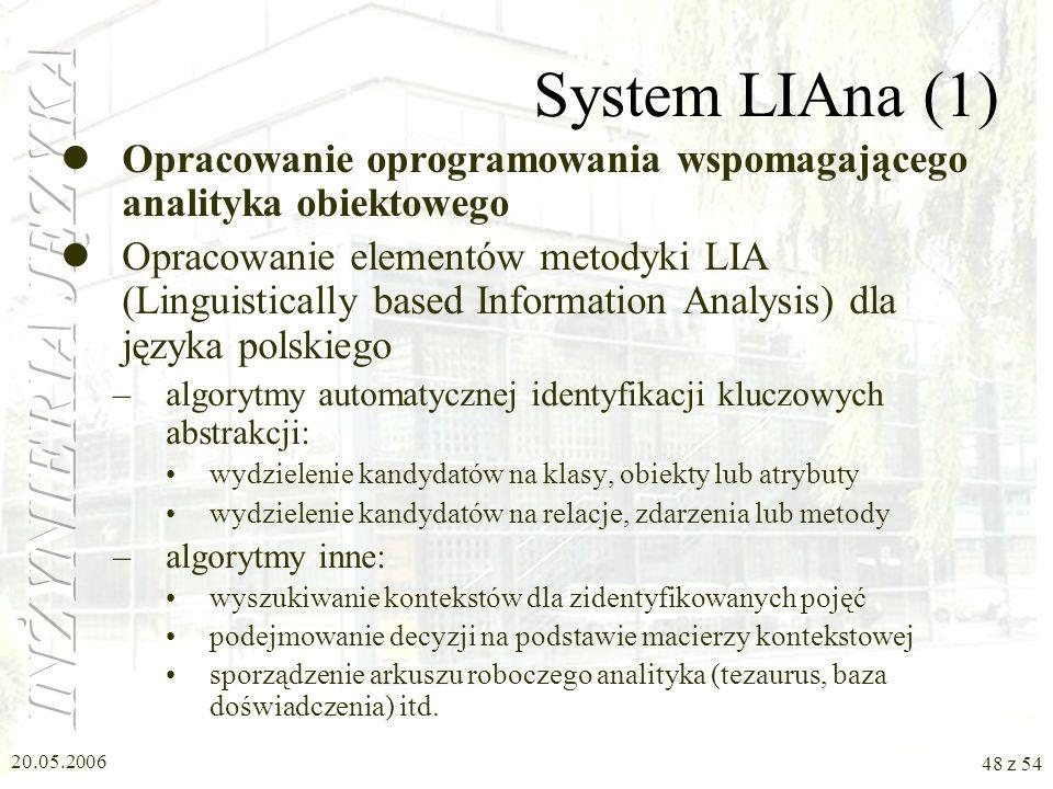 20.05.2006 47 z 54 Serwer lingwistyczny LAS (3) Forum Forum