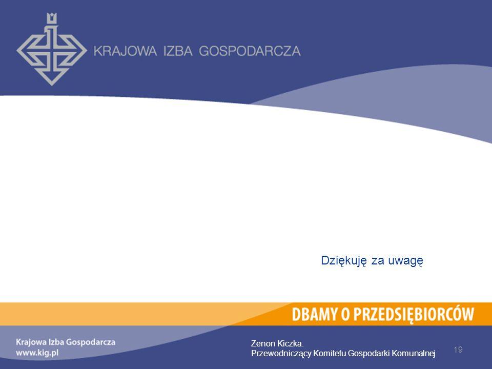 19 Zenon Kiczka. Przewodniczący Komitetu Gospodarki Komunalnej Dziękuję za uwagę