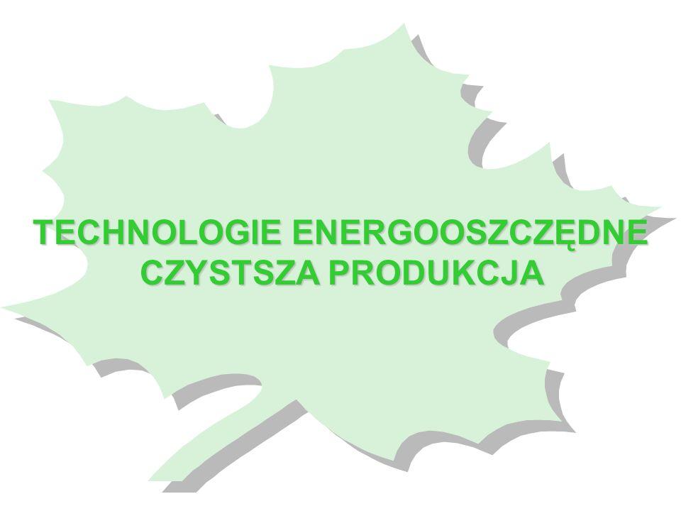 TECHNOLOGIE ENERGOOSZCZĘDNE CZYSTSZA PRODUKCJA