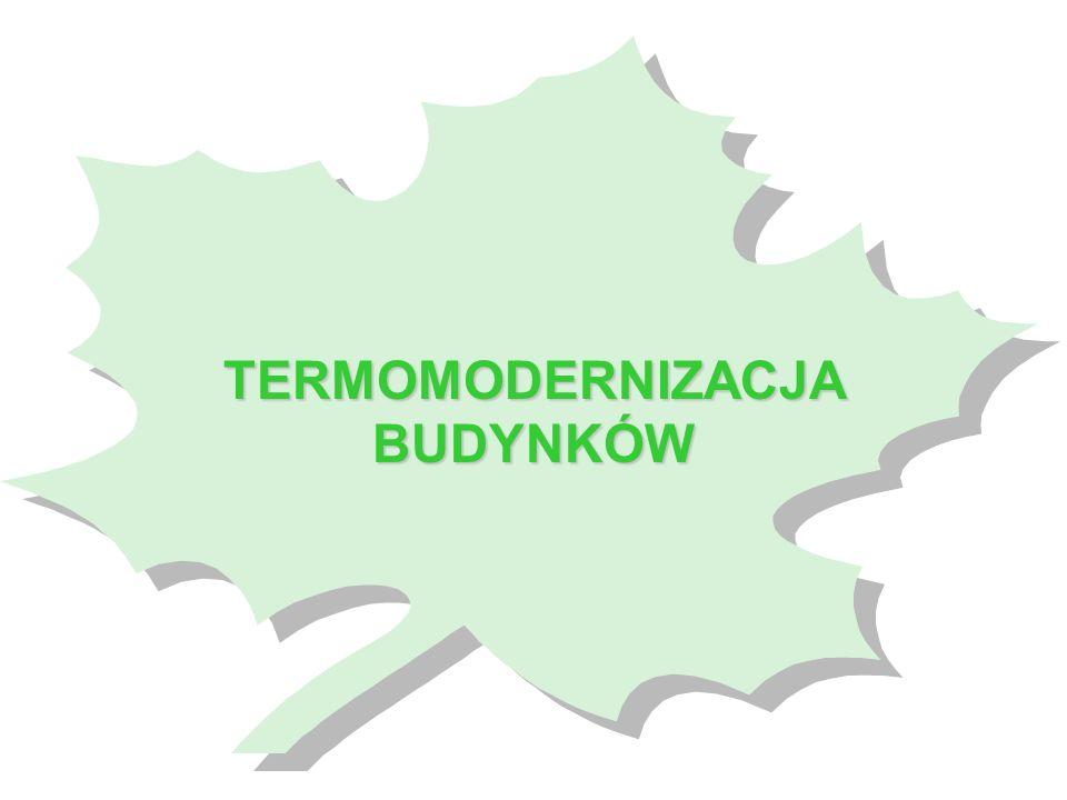 Kredyty na przedsięwzięcia z zakresu termomodernizacji podmioty uprawnione do ubiegania się o kredyt: właściciele lub zarządcy budynków mieszkalnych, lokalnej sieci ciepłowniczej lub lokalnego źródła ciepła, jednostki samorządu terytorialnego (dla budynków własnych, służących do wykonywania zadań publicznych) przedmiot kredytowania: - zmniejszenie zapotrzebowania na energię dla potrzeb c.o.