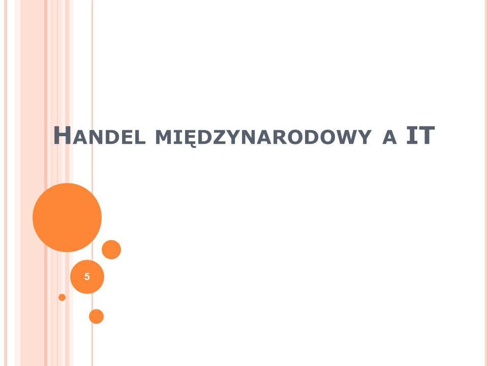 H ANDEL MIĘDZYNARODOWY A IT 5