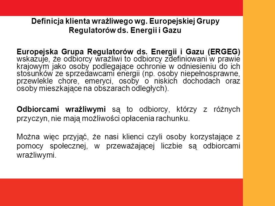 Definicja klienta wrażliwego wg. Europejskiej Grupy Regulatorów ds.