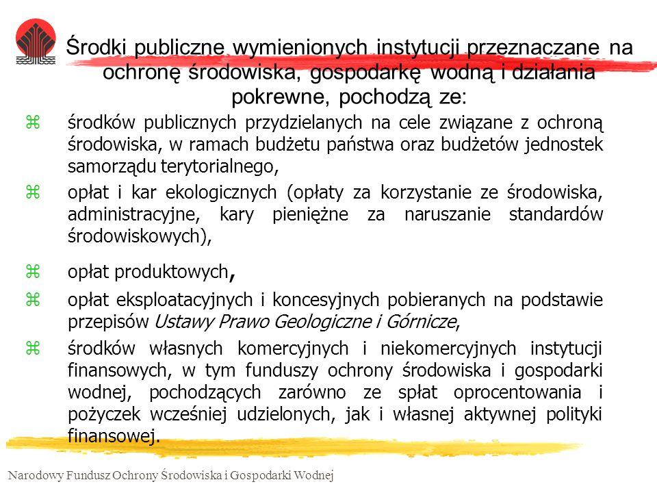 Narodowy Fundusz Ochrony Środowiska i Gospodarki Wodnej Inwestycje, które Polska musi realizować w okresie dostosowawczym w infrastrukturze ochrony środowiska są szacowane na ok.