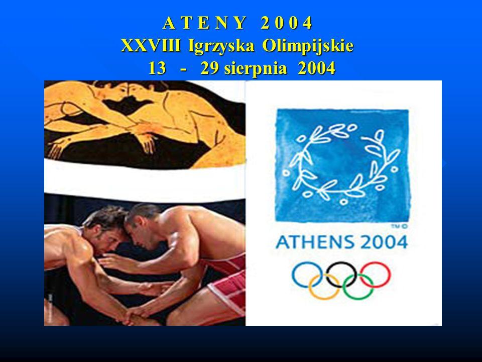 Od 13 sierpnia do 29 sierpnia będą trwały XXVIII nowożytne Igrzyska Olimpijskie Ateny 2004 .