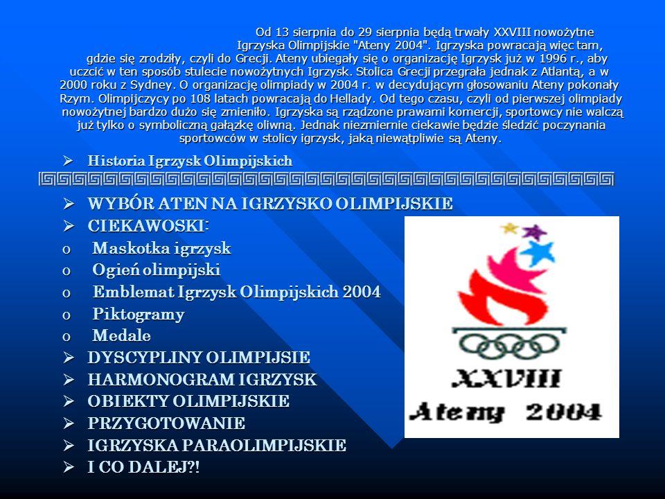 Od 13 sierpnia do 29 sierpnia będą trwały XXVIII nowożytne Igrzyska Olimpijskie