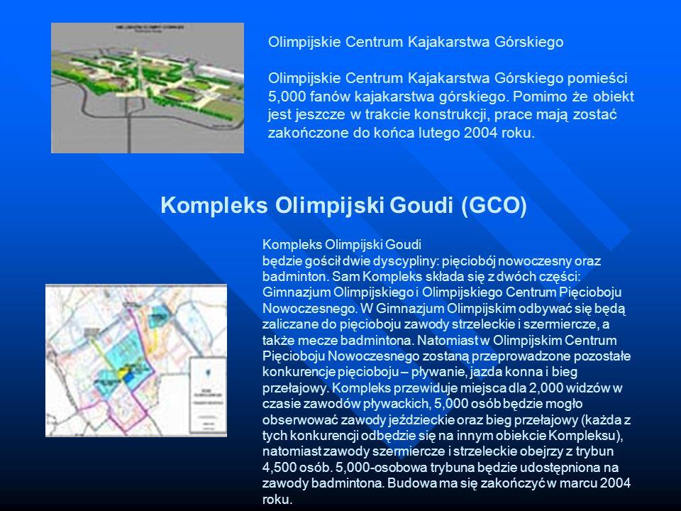 Olimpijskie Centrum Kajakarstwa Górskiego Olimpijskie Centrum Kajakarstwa Górskiego pomieści 5,000 fanów kajakarstwa górskiego. Pomimo że obiekt jest