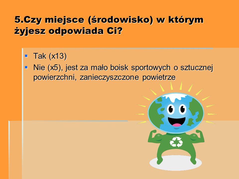 4.Jak, Ty troszczysz się o środowisko ? Segregacja śmieci (x8) Segregacja śmieci (x8) Sprzątanie odchodów po wyprowadzonym na spacer psie (x4) Sprząta