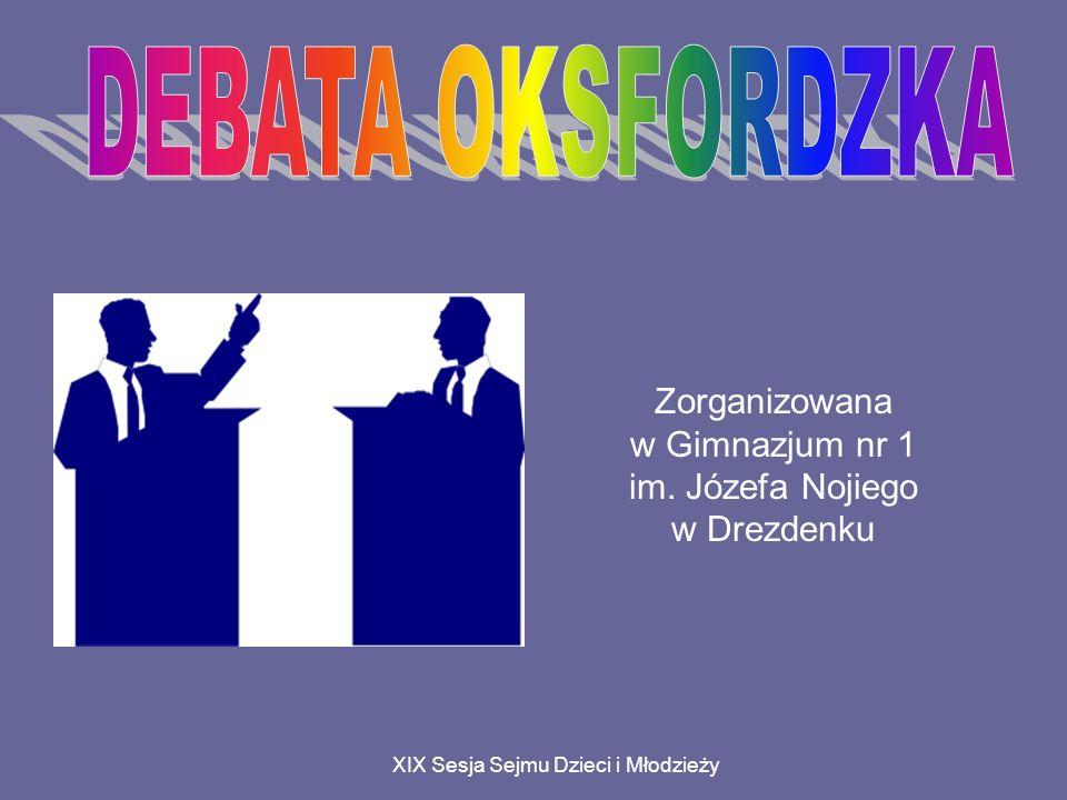 XIX Sesja Sejmu Dzieci i Młodzieży Zorganizowana w Gimnazjum nr 1 im. Józefa Nojiego w Drezdenku