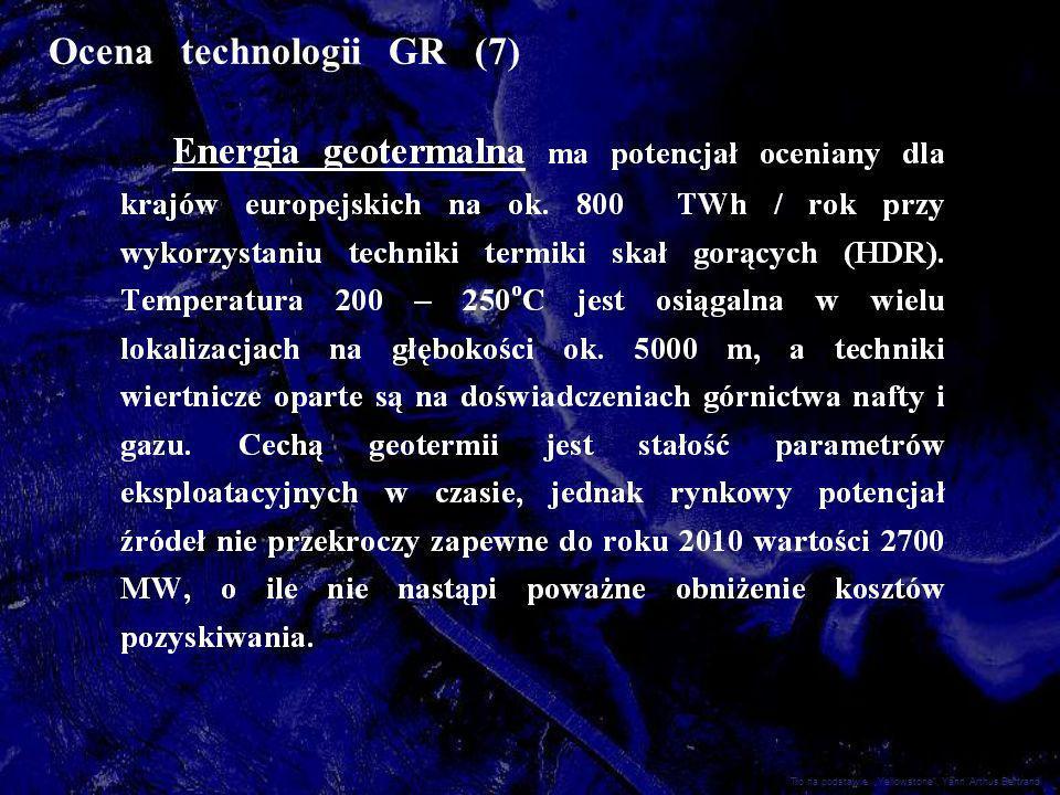Ocena technologii GR (7) Tło na podstawie: Yellowstone, Yann Arthus Bertrand