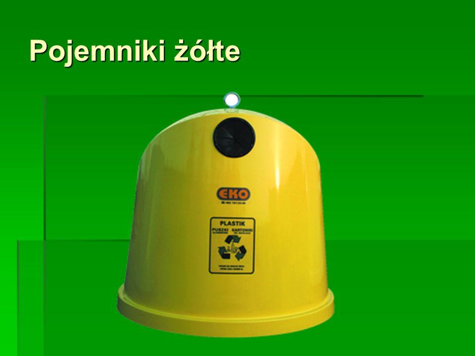 Pojemniki żółte