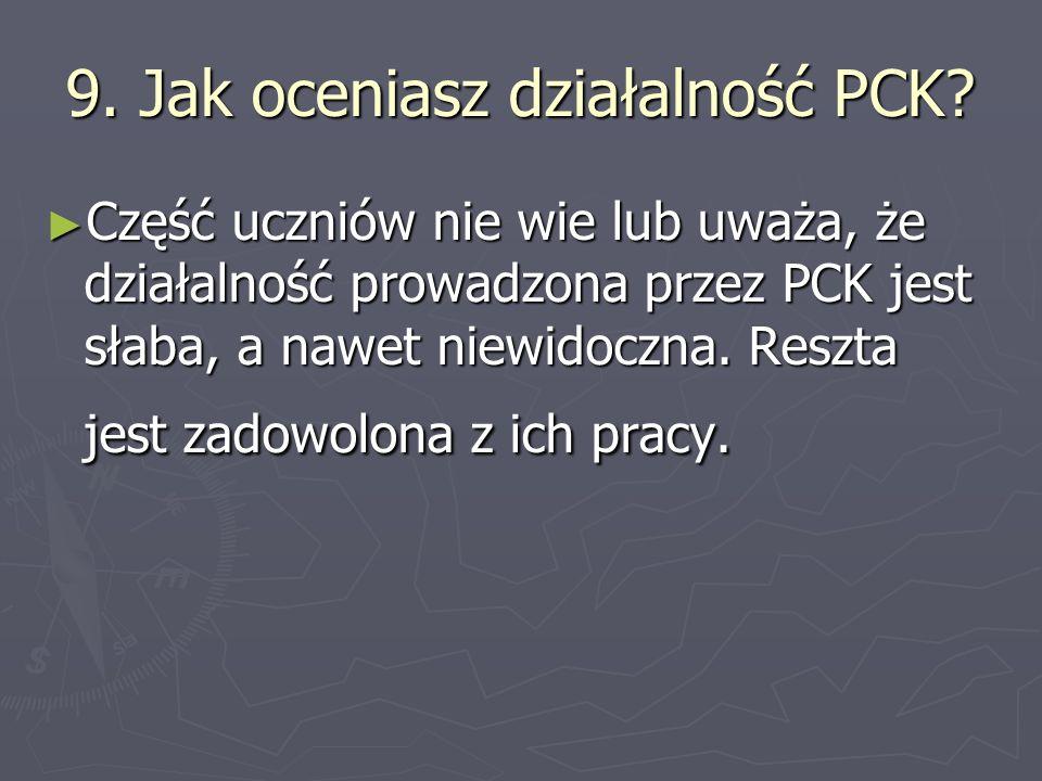 9.Jak oceniasz działalność PCK.