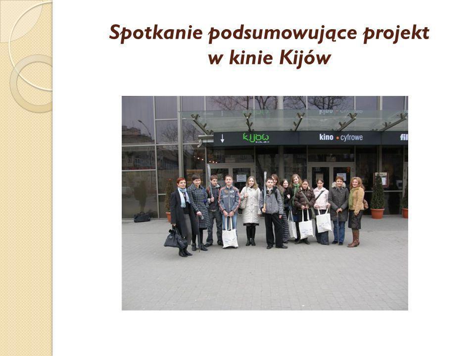 Spotkanie podsumowujące projekt w kinie Kijów