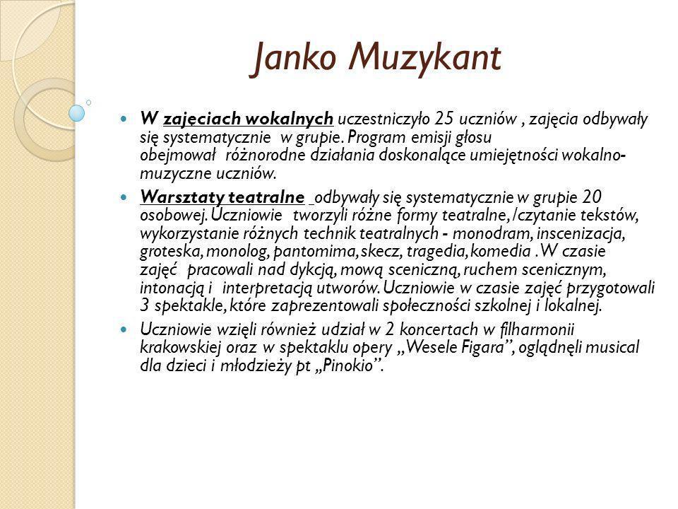 Janko Muzykant Wzięli czynny udział w lekcji muzyki w Operze Krakowskiej /sala Teatru im.
