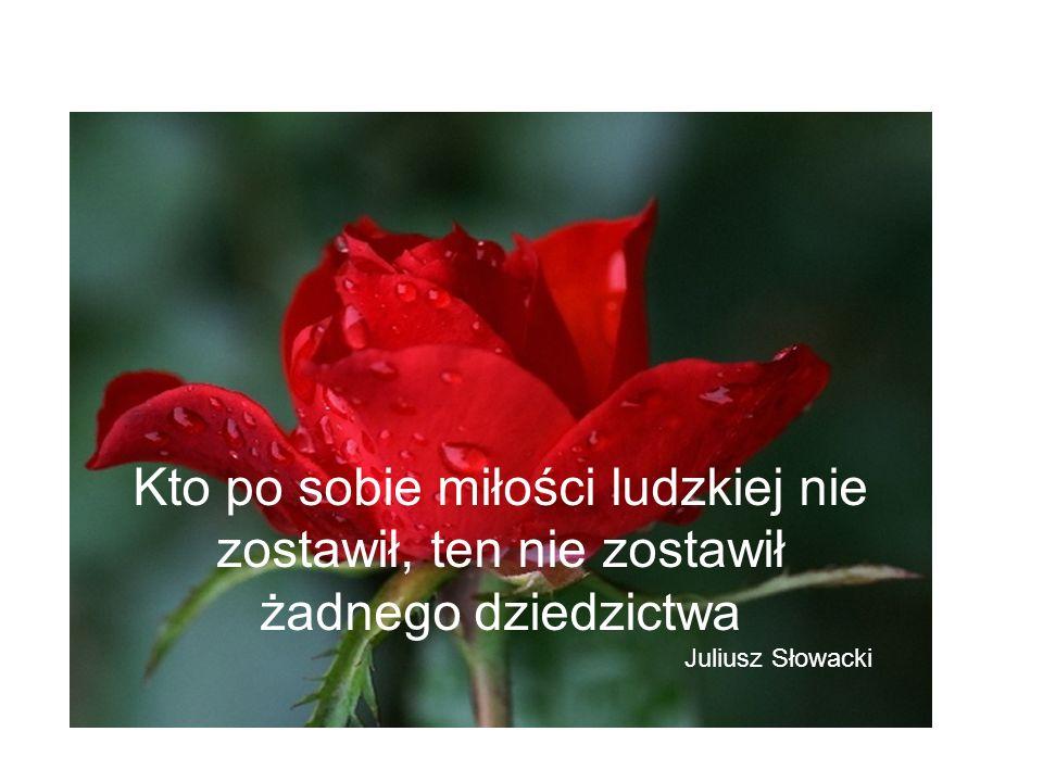 Kto po sobie miłości ludzkiej nie zostawił, ten nie zostawił żadnego dziedzictwa Juliusz Słowacki