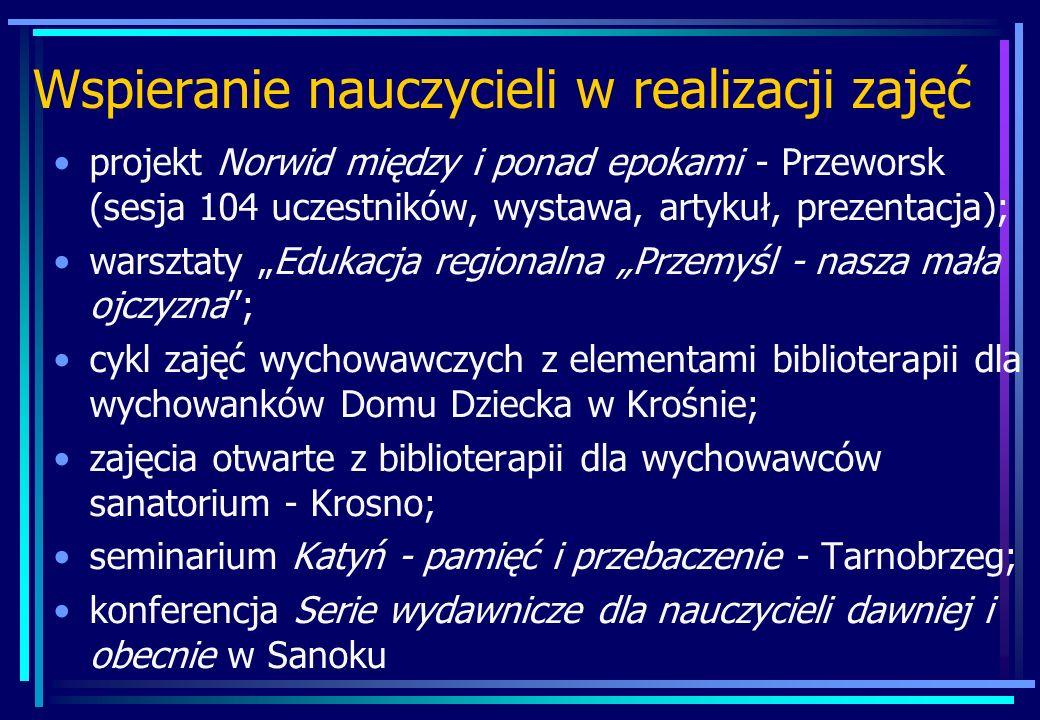 Wspieranie nauczycieli w realizacji zajęć projekt Norwid między i ponad epokami - Przeworsk (sesja 104 uczestników, wystawa, artykuł, prezentacja); wa