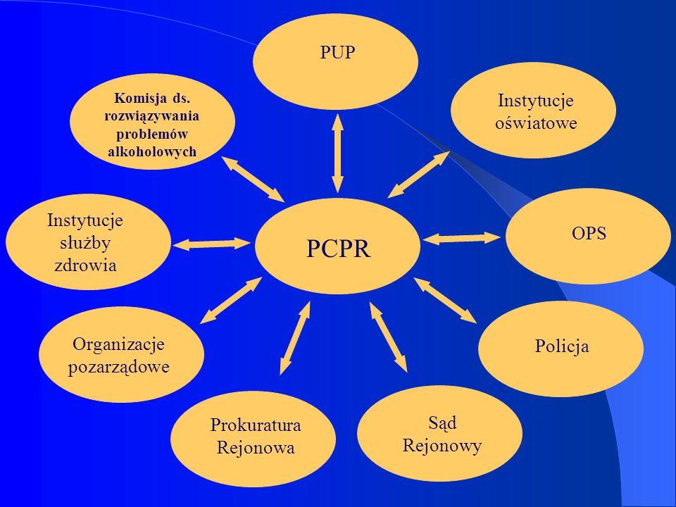 Instytucje oświatowe PCPR Sąd Rejonowy OPS PUP Komisja ds. rozwiązywania problemów alkoholowych Prokuratura Rejonowa Organizacje pozarządowe Policja I
