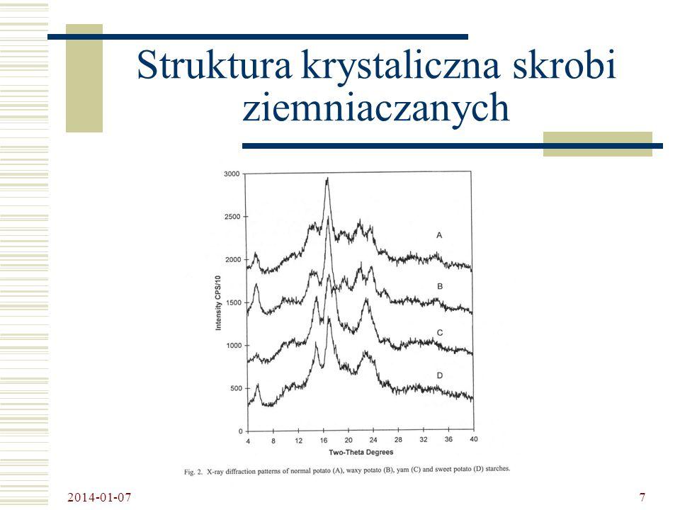 2014-01-07 8 Morfologia granulek woskowej skrobi ziemniaczanej a) zwykła b) woskowa
