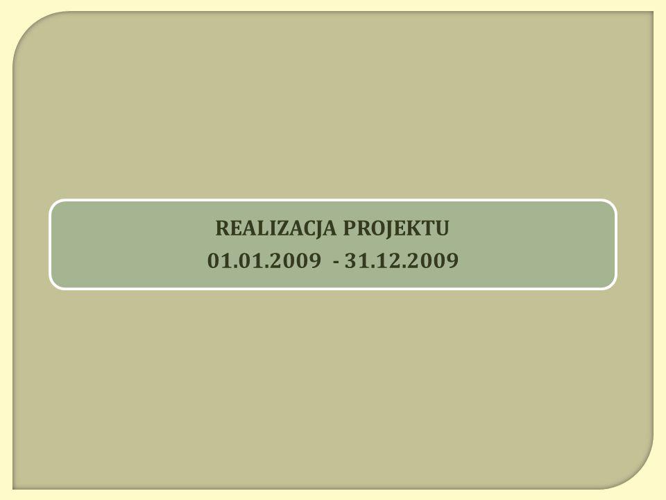 REALIZACJA PROJEKTU 01.01.2009 - 31.12.2009