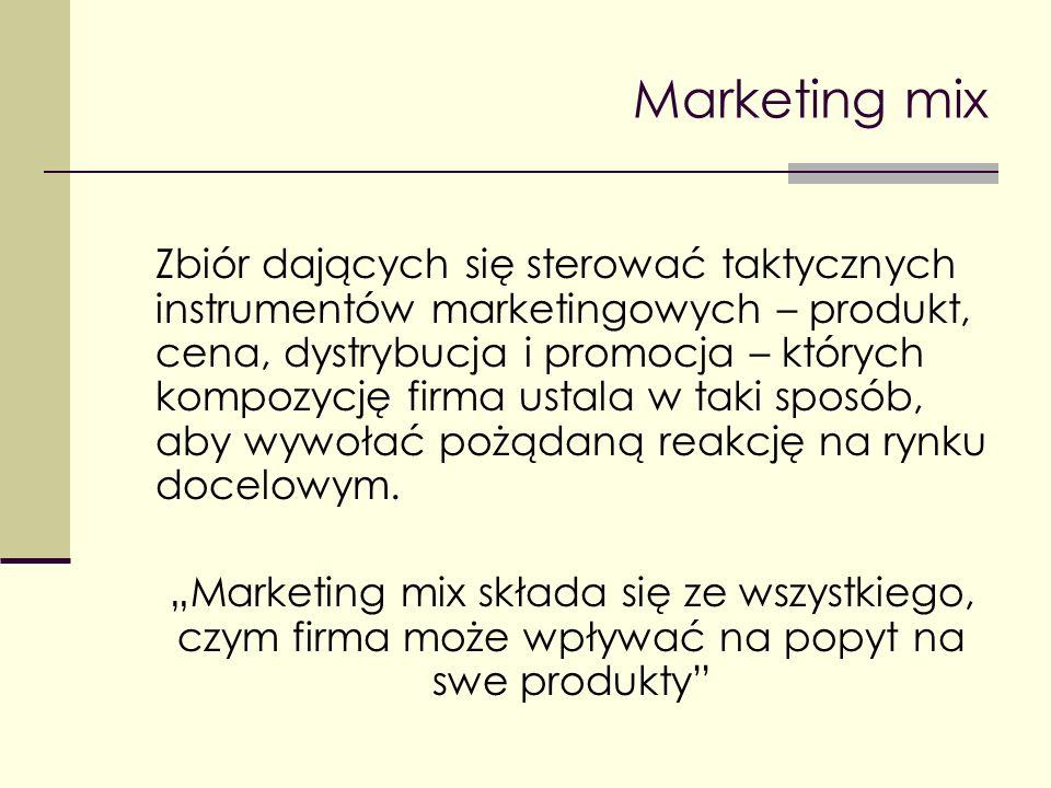 Produkt jako element marketingu mix Klasyfikacja produktów konsumpcyjnych Kryterium - trwałość i materialność o Dobra nietrwałe (o krótkim użytkowaniu) o Dobra trwałe (długotrwałego użytkowania) o Usługi