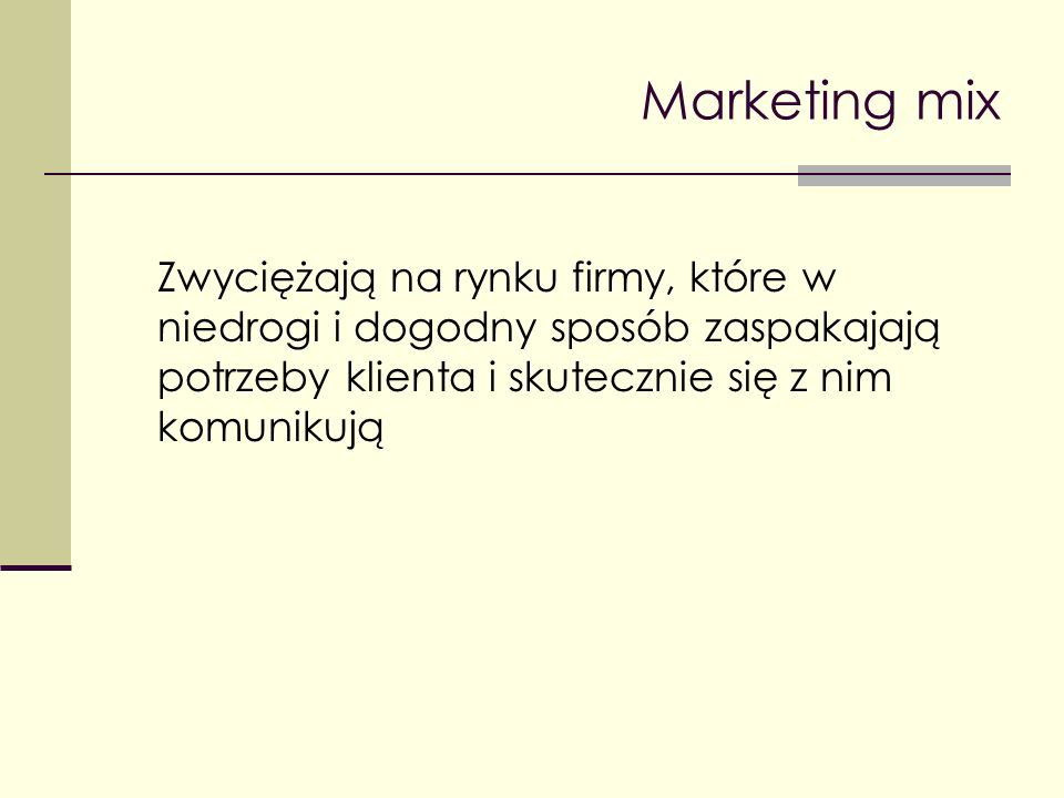 Cena jako element marketingu mix