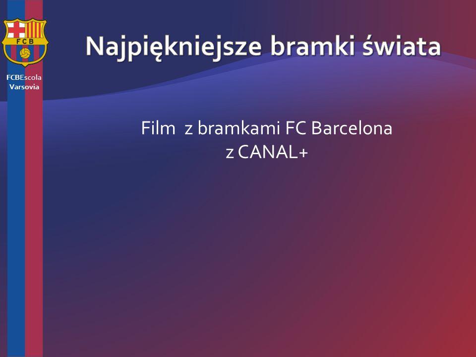 Film z bramkami FC Barcelona z CANAL+ FCBEscola Varsovia