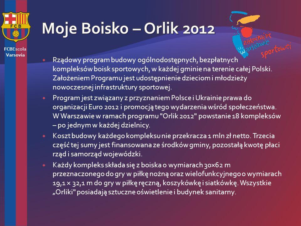 Rządowy program budowy ogólnodostępnych, bezpłatnych kompleksów boisk sportowych, w każdej gminie na terenie całej Polski.