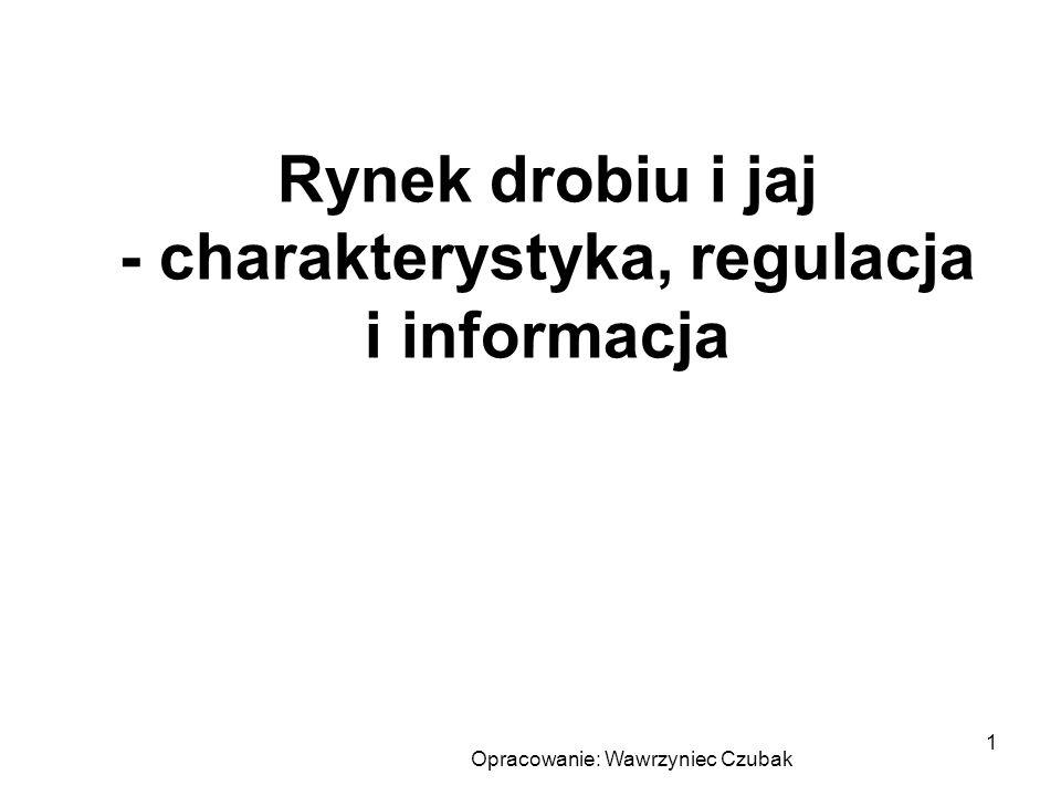 Opracowanie: Wawrzyniec Czubak 1 Rynek drobiu i jaj - charakterystyka, regulacja i informacja