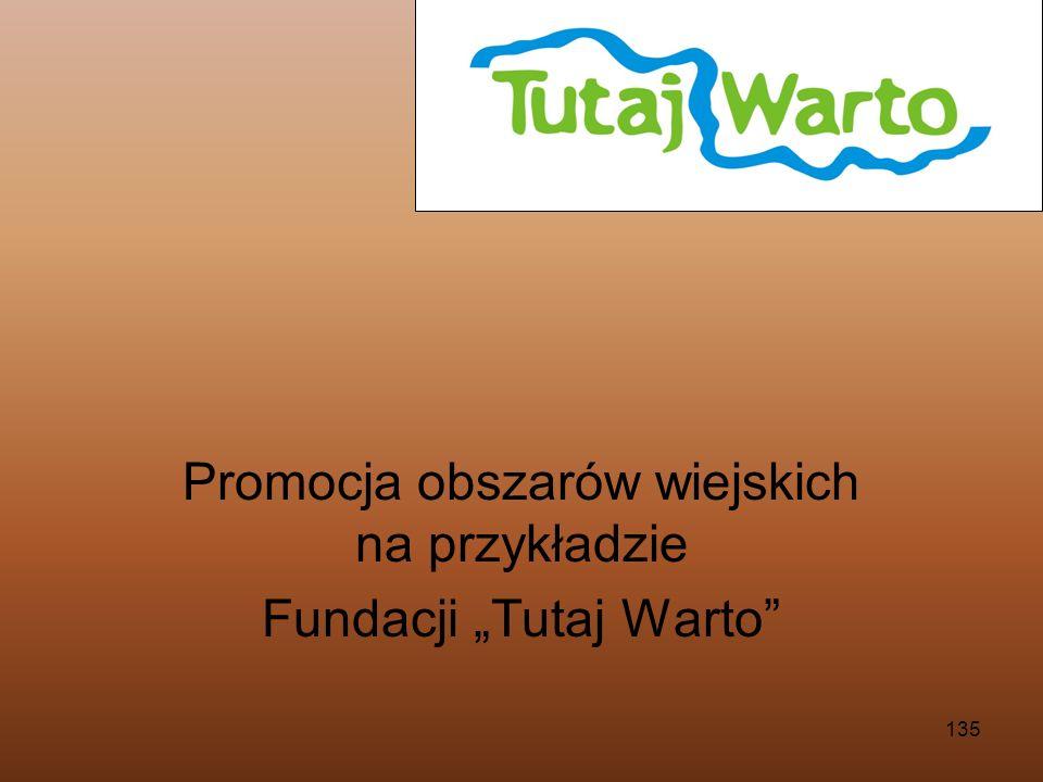135 Promocja obszarów wiejskich na przykładzie Fundacji Tutaj Warto