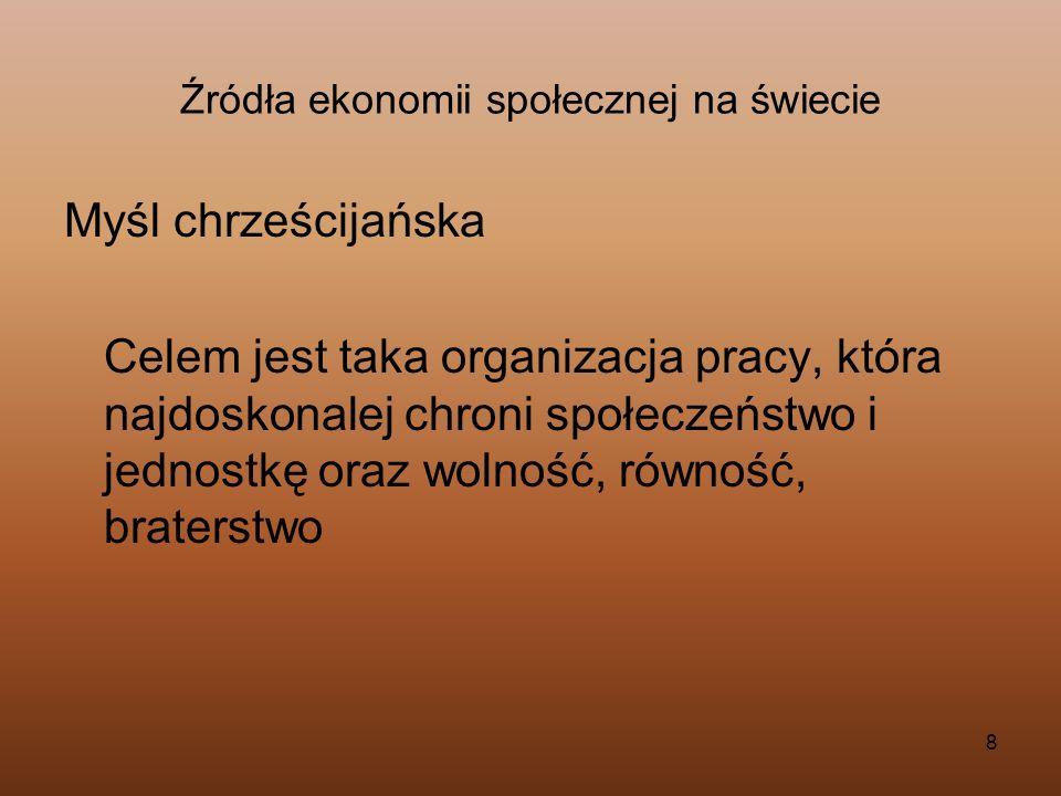 129 Przedsiębiorczość społeczna na świecie i w Polsce, zasady funkcjonowania, szanse i warunki sukcesu.