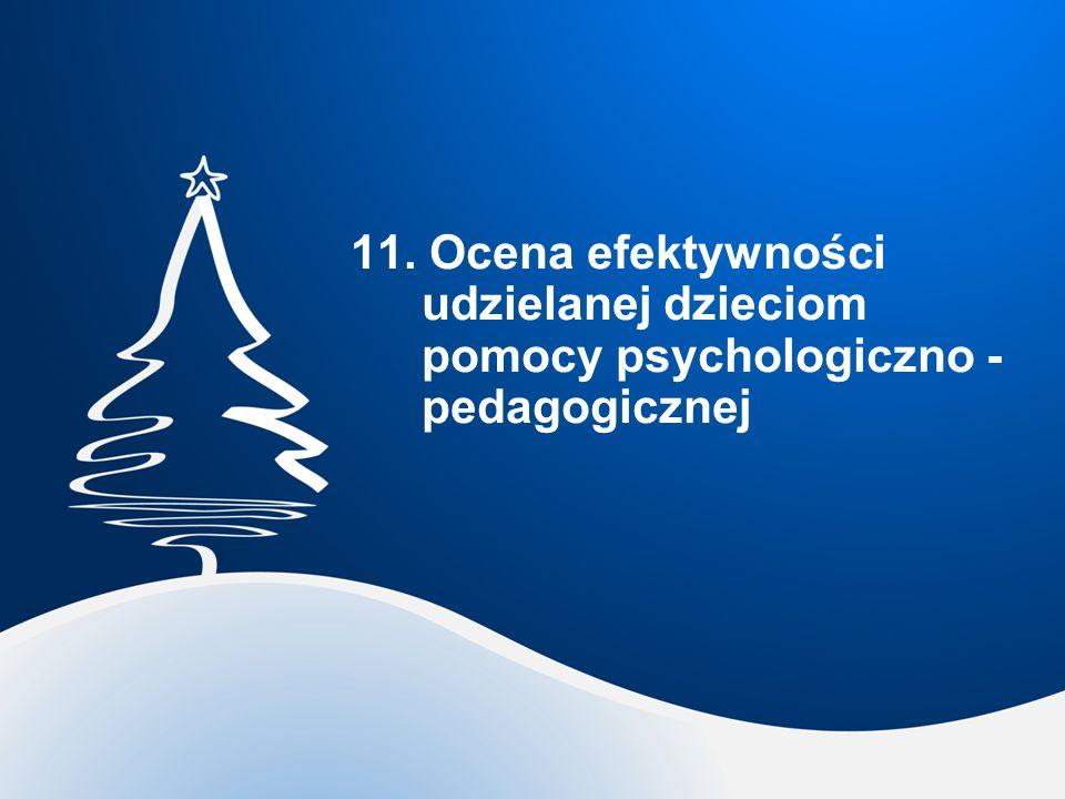 11. Ocena efektywności udzielanej dzieciom pomocy psychologiczno - pedagogicznej