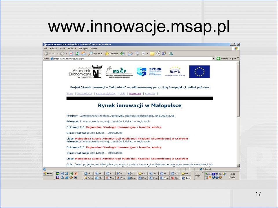 17 www.innowacje.msap.pl