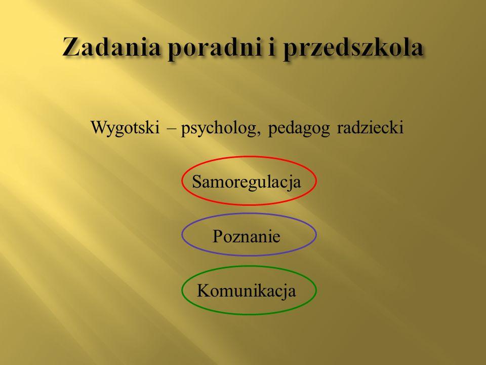 Wygotski – psycholog, pedagog radziecki Samoregulacja Poznanie Komunikacja