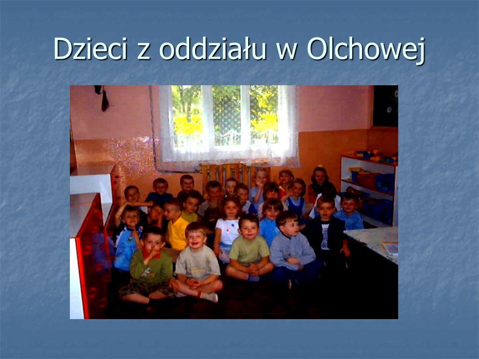Dzieci z oddziału w Olchowej