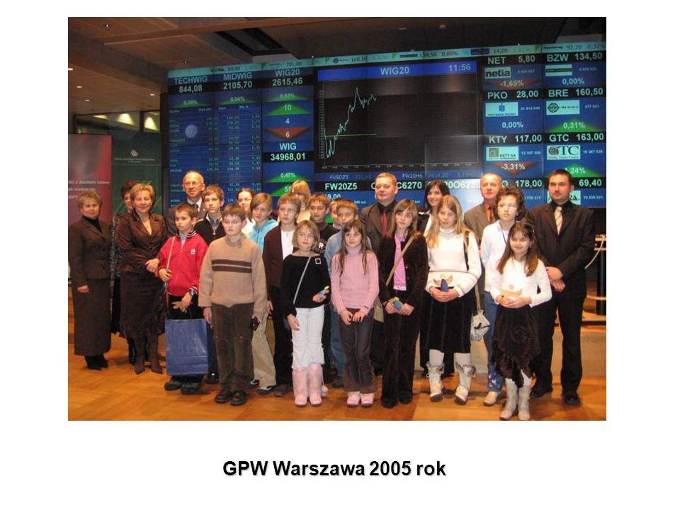 GPW Warszawa 2005 rok