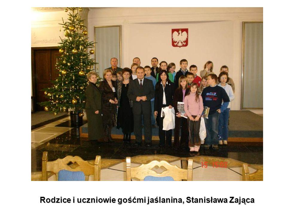 Rodzice i uczniowie gośćmi jaślanina, Stanisława Zająca
