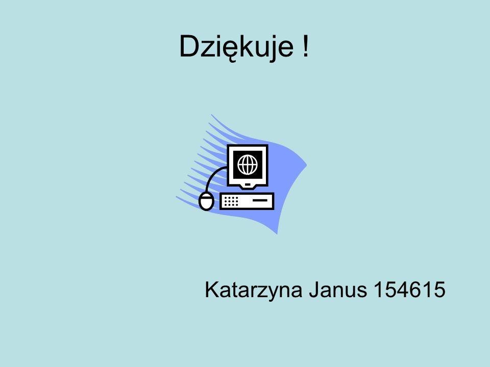 Dziękuje ! Katarzyna Janus 154615