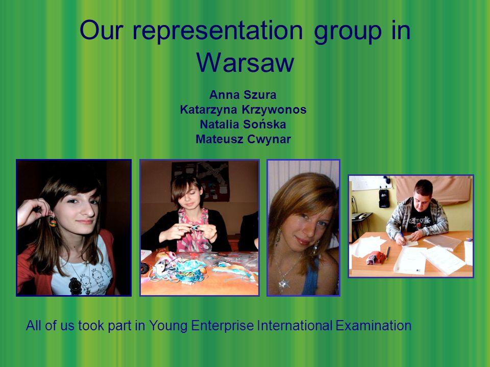 Our representation group in Warsaw Anna Szura Katarzyna Krzywonos Natalia Sońska Mateusz Cwynar All of us took part in Young Enterprise International Examination