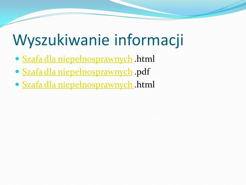 Wyszukiwanie informacji Szafa dla niepełnosprawnych.html Szafa dla niepełnosprawnych Szafa dla niepełnosprawnych.pdf Szafa dla niepełnosprawnych Szafa