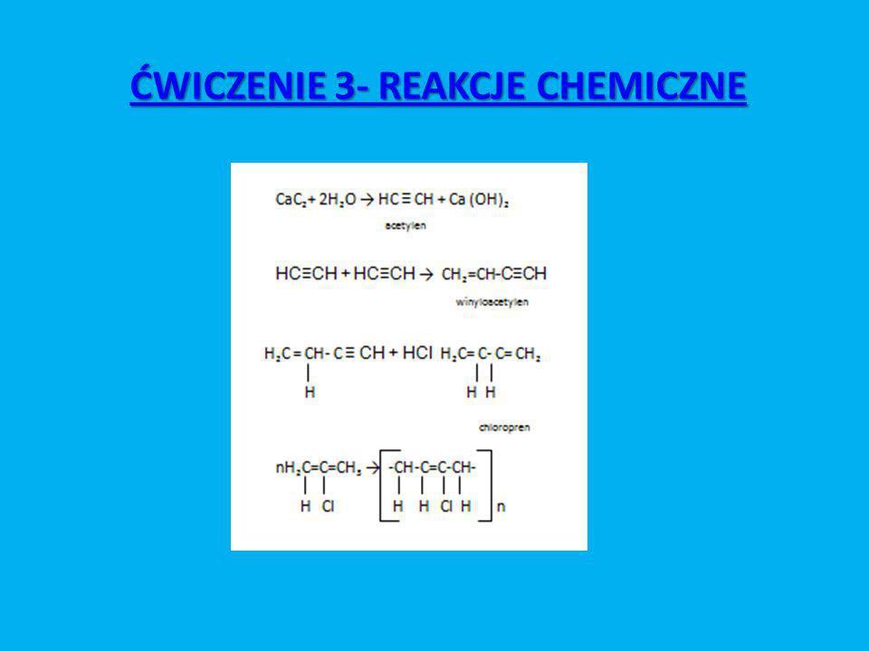 ĆWICZENIE 3- REAKCJE CHEMICZNE ĆWICZENIE 3- REAKCJE CHEMICZNE