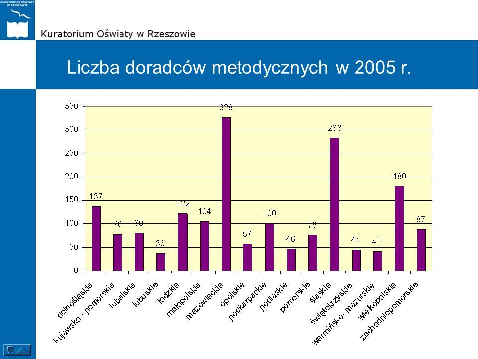 Liczba doradców metodycznych w 2005 r.