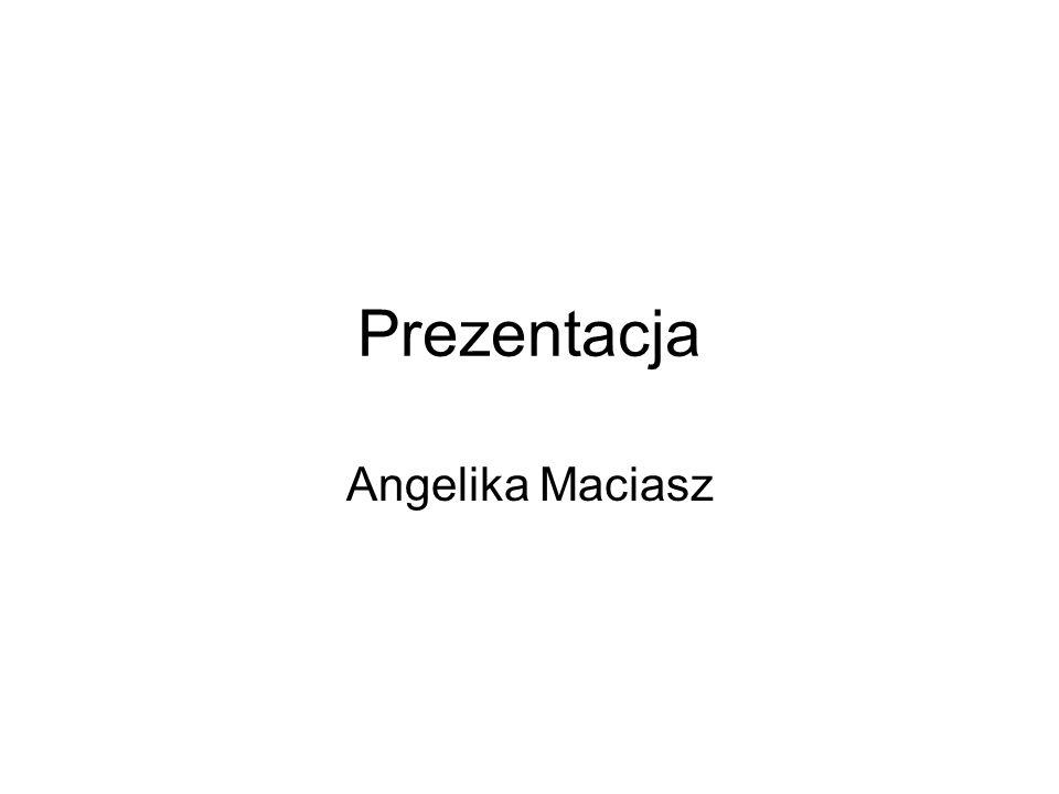 Tekst nieuporządkowany (.txt) ZYCIORYS Nazywam sie Angelika Maciasz, mam 20 lat.